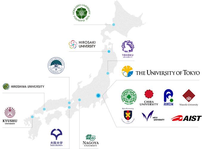 国内の連携大学・研究機関